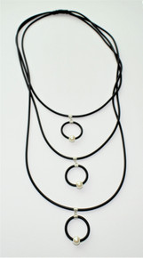 CYLINDRICAL BLACK NECKLACE