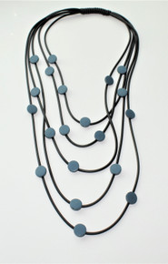FIVE STAND BLUE NECKLACE
