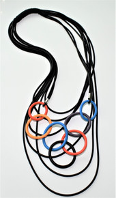 OLYMPIC CIRCLES MULTI-COLOR NECKLACE