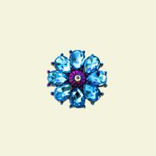 VINTAGE IRIDESCENT BLUE SNAP JEWEL