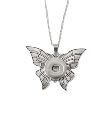 BEWITCHED BUTTERFLY SNAP JEWEL NECKLACE