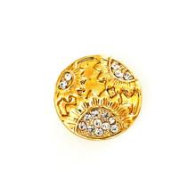 GOLDEN DIAMOND SUNFLOWER SNAP JEWEL