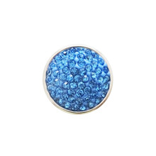 CORNFLOWER BLUE JEWELLED SNAP JEWEL