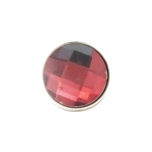 RASPBERRY FACETED SNAP JEWEL