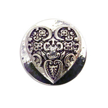 ENGRAVED HEART SNAP JEWEL