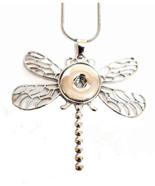 DRAGONFLY SNAP JEWEL NECKLACE