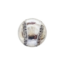BASEBALL SILVER SNAP JEWEL