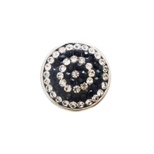 CLEAR & BLACK CRYSTAL CIRCLES SNAP JEWEL
