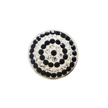 BLACK & CLEAR CRYSTAL CIRCLES SNAP JEWEL