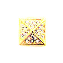 GOLD CRYSTAL PYRAMID SNAP JEWEL