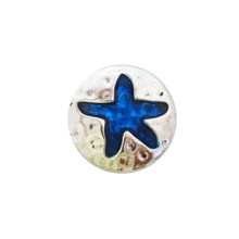 BLUE ENAMEL STARFISH SNAP JEWEL