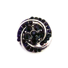 BLACK CRYSTAL TWIST SNAP JEWEL