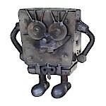 Handcrafted Found Art Sponge Bob styles may vary 6 x 6 x 3