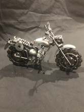 HANDCRAFTED FOUND ART   ROUGH RIDER MOTORCYCLE  7.5 x 3 x 5.5
