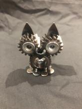 Handcrafted Found Art   Gear Owl  2x3x2