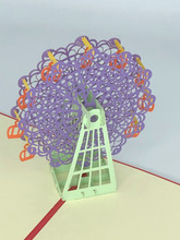 Handmade 3D Kirigami Card  with envelope  Ferris Wheel