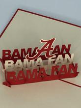 Handmade 3D Kirigami Card  with envelope  Bama Fan Alabama