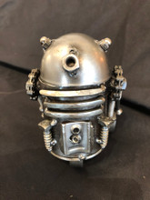 Handcrafted Found Art  Medium R2D2 Star Wars   5 x 3 x 3  Moving Parts: Head can pop up