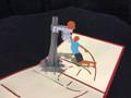 Basketball  Handmade 3D Kirigami Card