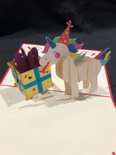 Birthday Unicorn Handmade 3D Kirigami Card