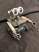 Handcrafted Found Art  Medium Walle Wallee Wall-e  5 x 3 x 3