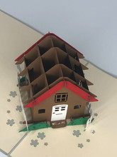 Handmade 3D Kirigami Card  with envelope  New House Real Estate Realtor