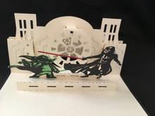 3D Pop up Cards Kirigami  Star Wars Darth Vader and Yoda