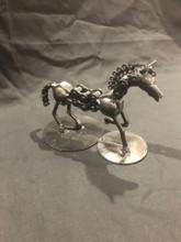 Handcrafted Found Art   Running Horse  6 x 4 x 3