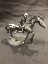 Handcrafted Found Art  Riding Horse  7 x 4 x 3