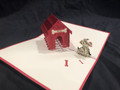 KIRIGAMI CUT PAPER ART  3D POP UP CARD  Dog House