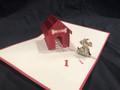 KIRIGAMI CUT PAPER ART  3D POP UP CARD  Dog House