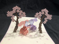 KIRIGAMI CUT PAPER ART  3D POP UP CARD  Love Bunny