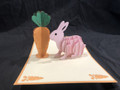 KIRIGAMI CUT PAPER ART  3D POP UP CARD  Bunny