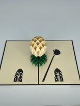 Handmade 3D Kirigami Card  with envelope  Golf Ball