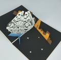 Handmade 3D Kirigami Card  with envelope  Millennium Falcon Star Wars