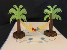 Handmade 3D Kirigami Card with envelope  Beach Boy