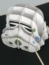 Handmade 3D Kirigami Card  with envelope  Storm Trooper Star Wars