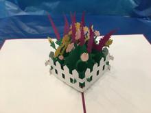 Handmade 3D Kirigami Card with envelope  Purple Garden