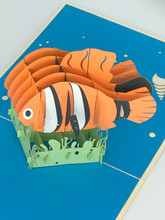 Handmade 3D Kirigami Card  with envelope  Finding Nemo Fish