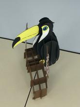 Handmade 3D Kirigami Card  with envelope  Toucan Bird