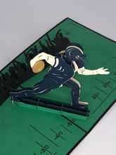 Handmade 3D Kirigami Card  with envelope  Football