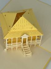 Handmade 3D Kirigami Card  with envelope  Beach House