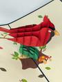 Handmade 3D Kirigami Card  with envelope  Cardinal Bird