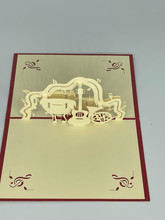 Handmade 3D Kirigami Card  with envelope  Music Instruments
