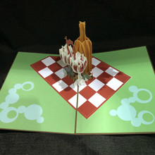 Picnic Wine Handmade 3D Kirigami Card