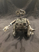 "Handcrafted Found Art Lg Walle Wall-e  Size: 6.5""H x 7""D x 5""W Weight: 2.5 lbs Moving Parts: Arms"