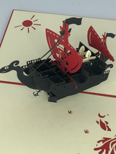 Handmade 3D Kirigami Card  with envelope  Going Merry Pirate Ship One Piece