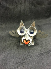 Love Owl Handcrafted Found Art