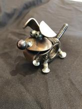 Handcrafted Found Art  Happy Puppy Gear Dog  3 X 2 X 3