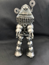 Handcrafted Found Art  Robbie the Robot Forbidden Planet  Approx 12 in high